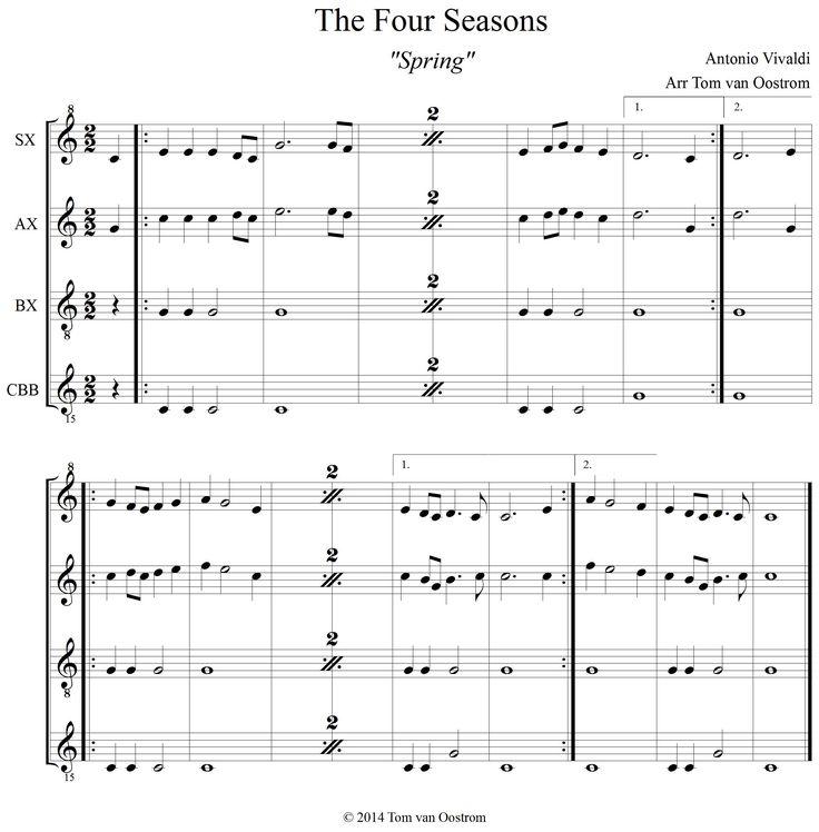 """The Four Seasons, Spring"" Orff Arrangement >>> Vivaldi by TOM."