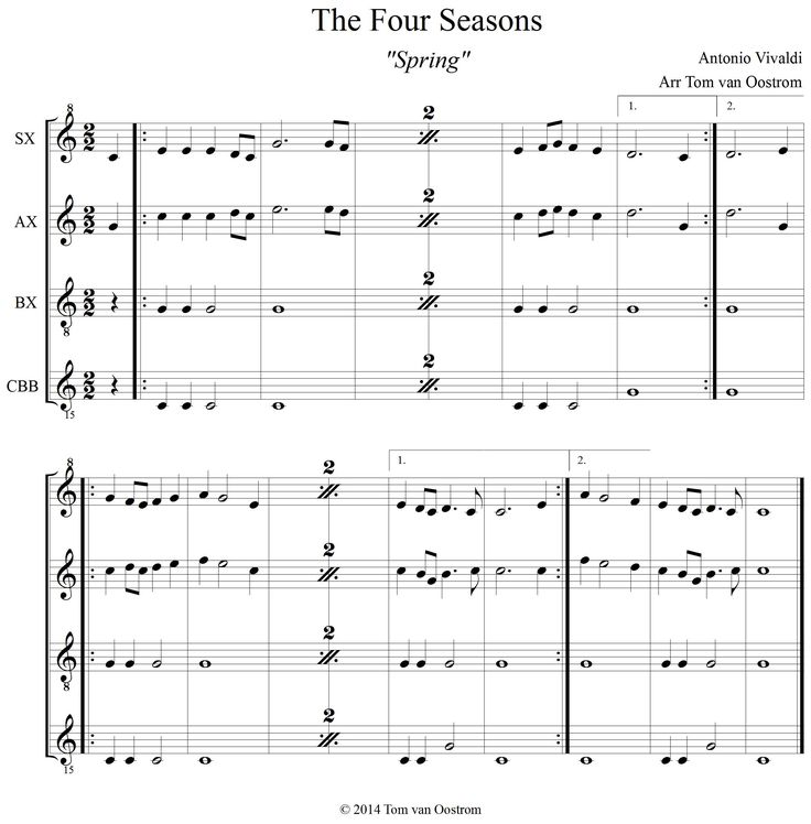 """The Four Seasons, Spring"" Orff Arrangement >>> Vivaldi by TOM."