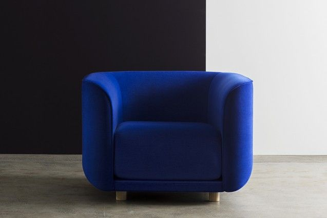 Cult's Fat Tulip armchair available in fabric or leather