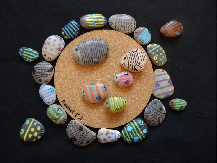 """Homemade fish stones and activities with them - from Rachel ("""",)"""