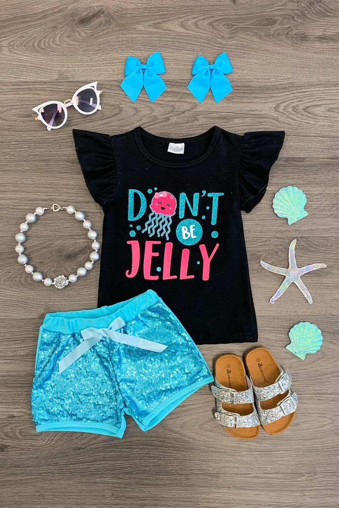Quot Don T Be Jelly Quot Sequin Short Set Carters Baby Clothes