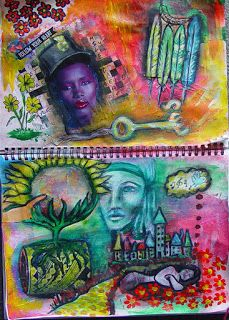 Spell Casters: Art Journaling: Clear Negative Thinking