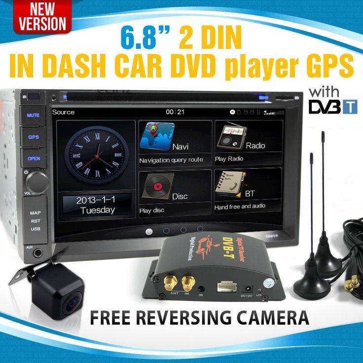 "7"" LCD IN DASH CAR GPS DVD DiVX IPOD DVB-T TV STEREO MULTIMEDIA PLAYER"