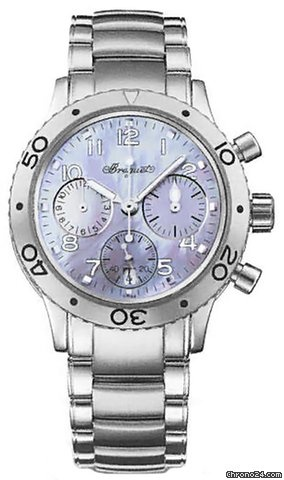 Breguet Type XX Transatlantique Mother of Pearl Dial Stainless Steel Mens Watch 4820ST59S76 $10,496 #hologram #watches #trend