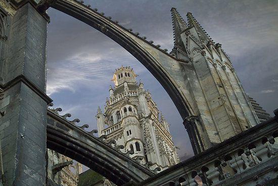 Tours - The cathedral - Indre-et-Loire dept. - Centre région, France      ...www.redbubble.com