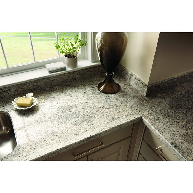 Shop Sensa Silver Silk Granite Kitchen Countertop Sample