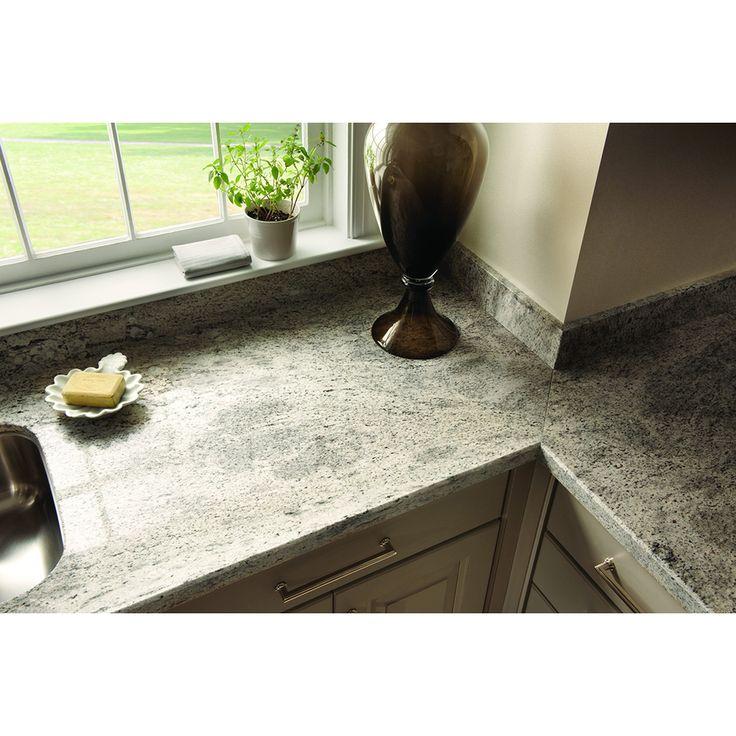 shop sensa silver silk granite kitchen countertop sample at lowescom - Corian Arbeitsplatten Lowes
