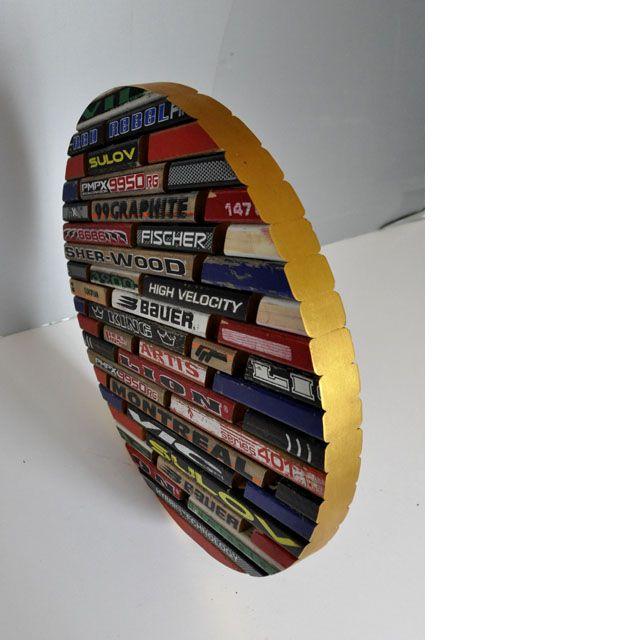Trophy - made of used hockey sticks