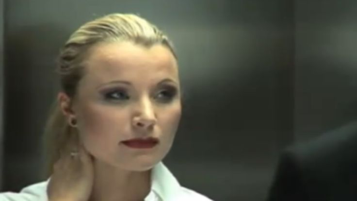 Hot Blonde Seduces Man In Elevator  Banned Commercials,Videos  Hot -3505