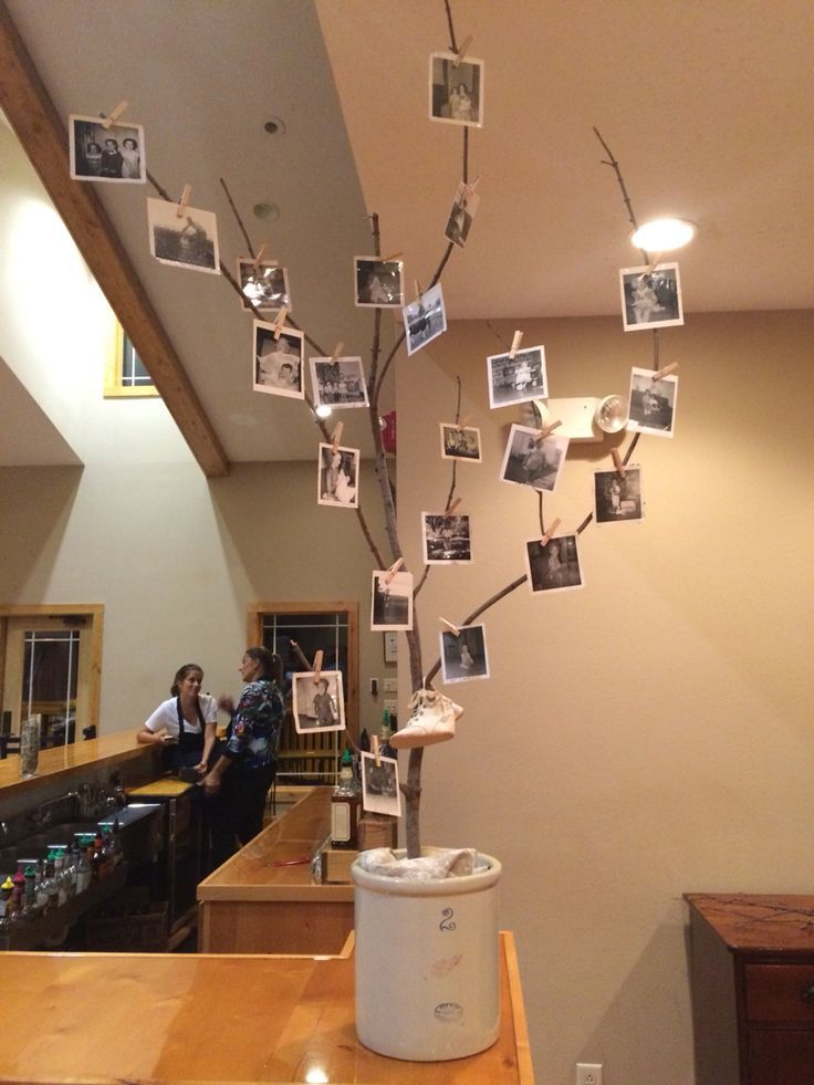 Photo display for a 60th birthday  60th Birthday Party Ideas in 2019  60th birthday