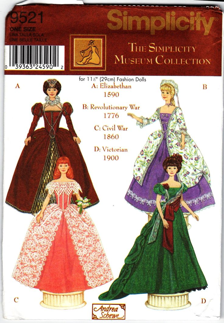 "barbie+sewing+patterns | Simplicity 9521 Fashion Doll sewing pattern BARBIE 11-1/2"" doll ..."