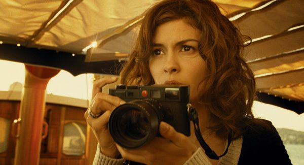 Audrey Tautou with her Leica M8. Still from a Chanel no. 5, actually her own camera used.