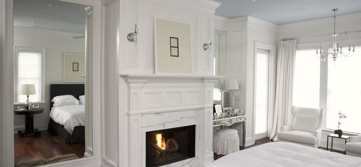 Silver full length mirror bedroom traditional with wood flooring wood trim recessed lighting