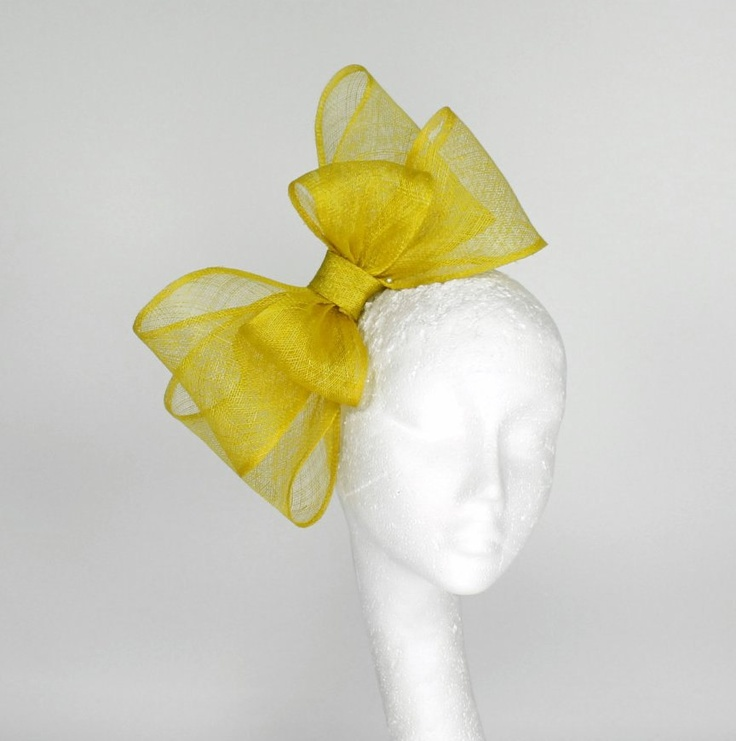 Yellow Fascinator Hat for Kentucky Derby