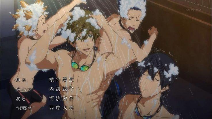 free iwatobi swim club aw look at rei and nagisa in the