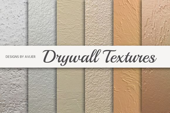 Drywall Texture Pack by Designs by Avlier on @creativemarket