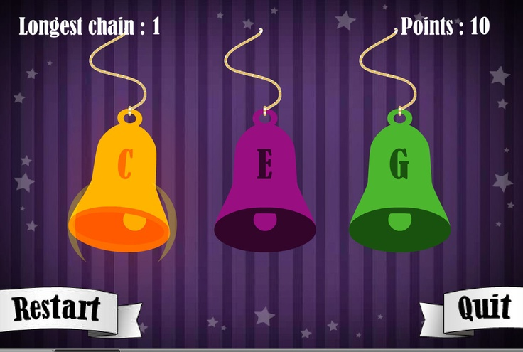 Follow the sequence of bells.    The popular 12 Games of Christmas are now free on TES iboard. Follow the bell sequence as it gets longer. How far can you go?  This is an online version of our popular iPhone and iPad apps and is best viewed on those devices - download them for free from the app store.