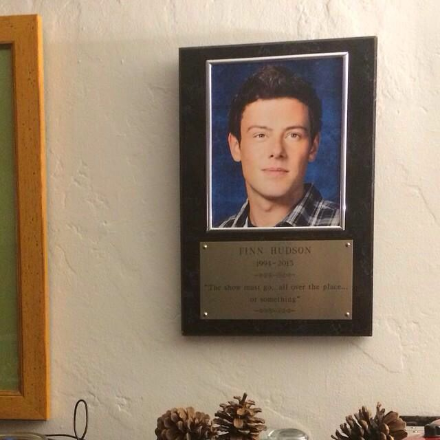 Mark Salling took Finn's plaque from the Glee set