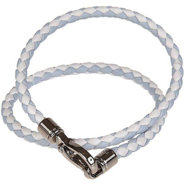 Braided Wrap Bracelet ($140) ❤ liked on Polyvore featuring men's fashion, men's jewelry, men's bracelets, mens white gold bracelets, mens leather braided bracelets and mens woven bracelets