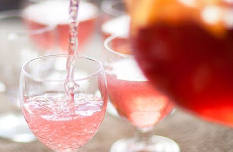 Rosé sangria..perfect for the summer party