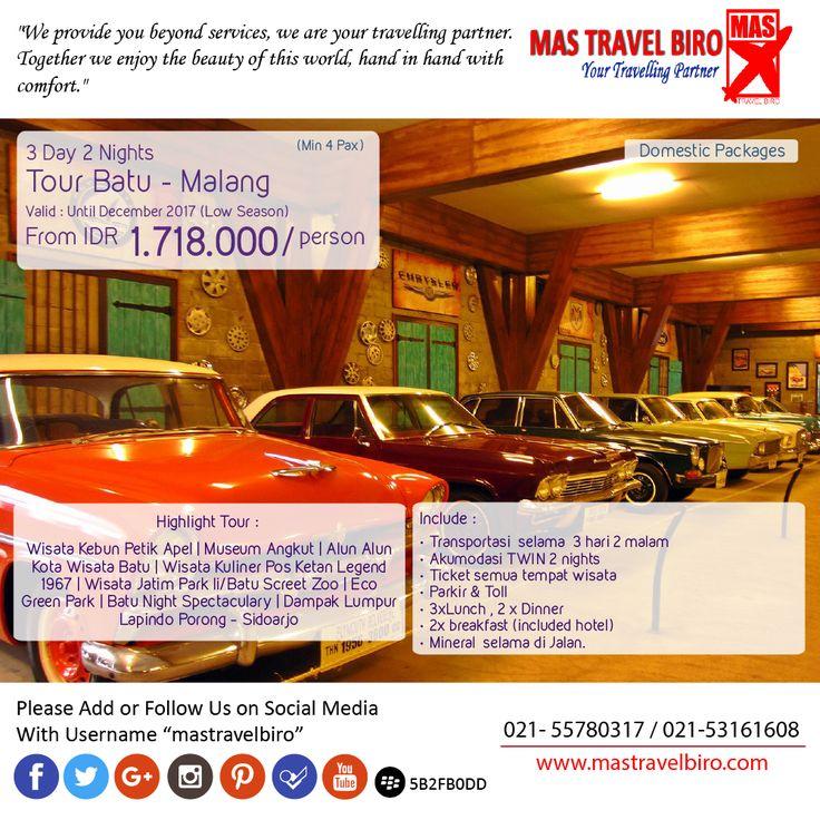 Wisata 3 Hari 2 Malam Batu - Malang Hanya Mulai dari Rp 1.718.000/Orang , Yuk Pesan ;) #mastravelbiro #malang #tour #promo #tourmurah #Explorejatim