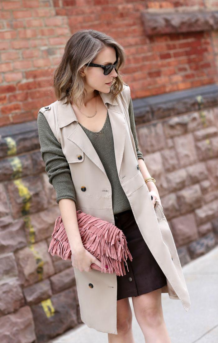 Spring staple: sleeveless trench coat                                                                                                                                                                                 More