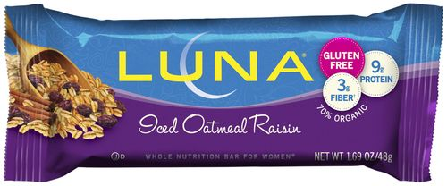Luna Bar: Iced Oatmeal Raisin- Box of 15 Bars