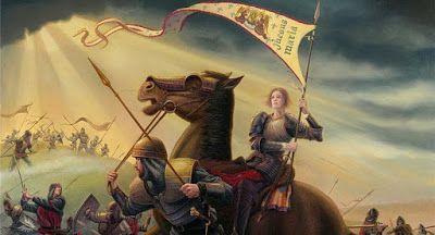 Spe Deus: Santa Joana d'Arc, virgem, mártir, († Rouen, França, 1431)