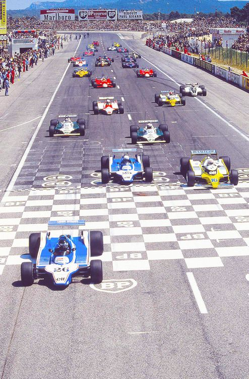 Start of the French Grand Prix 1980