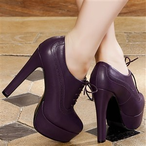 Bottines women purple heels 14 cm size 39, online buy Bottines woman MODATOI