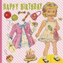 LT Aankleedpop Happy Birtday kaart | Kaarten | Helena`s kinderfeesten