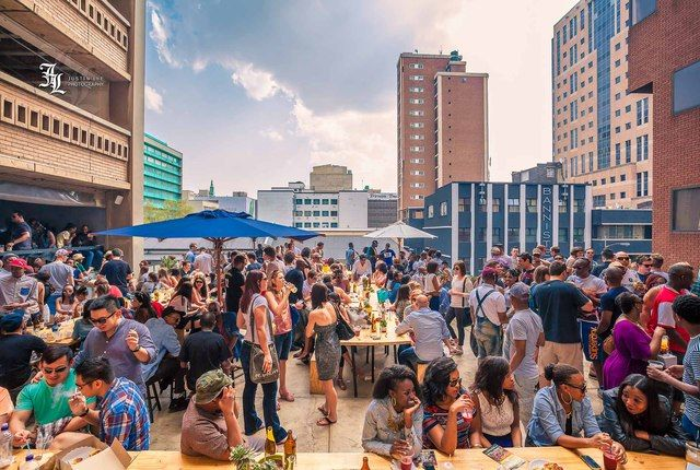 The Neighbourgoods Market - Johannesburg. This is one place I have actually been to.Set in a big building in the center of Braamfontein it has food on the bottom and a beer garden and some crafts on top. This artsy scene comes with a Hipster warning label, but is always worth a visit.