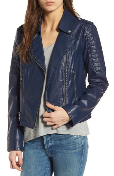 ANDREW MARC Leanne Faux Leather Jacket. #andrewmarc #cloth #