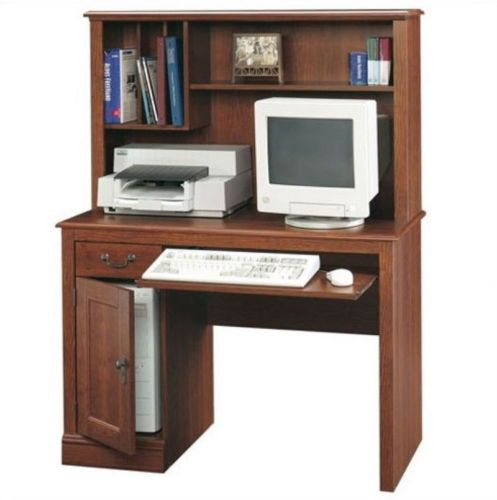 traditional computer desk with hutch home office furniture finish