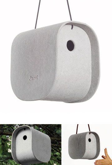 $138 I SERIOUSLY LOVE THIS!  Vladimir Jaccard: Birdy Modern Bird House | Available from NOVA68.com Modern Design