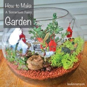How to make a terrarium Fairy Garden Using Succulents #easterdiy #aboutthegarden #beafunmum