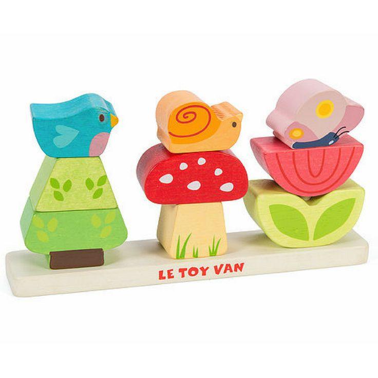 Jouet bois bébé - Petit jardin empilable Le Toy Van