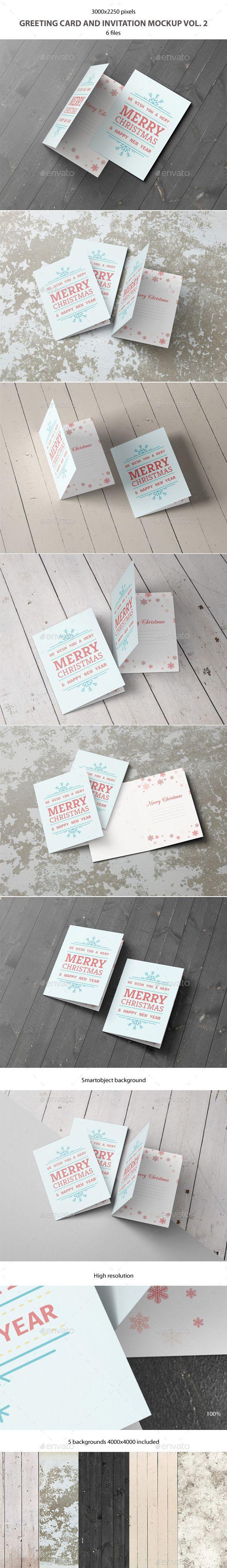 Greeting Card and Invitation Mockup | Download: http://graphicriver.net/item/greeting-card-and-invitation-mockup-vol-2/9273315?ref=ksioks