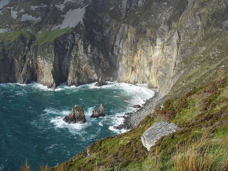 Slieve League, County Donegal, Ireland  Some of the highest cliffs in Europe
