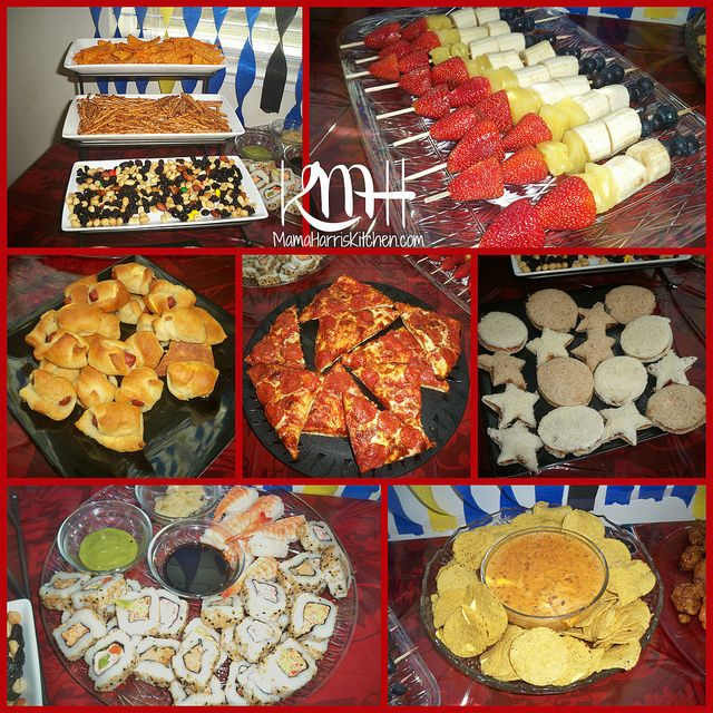 Party Food- I like the idea of finger foods and kid friendly choices.... :)