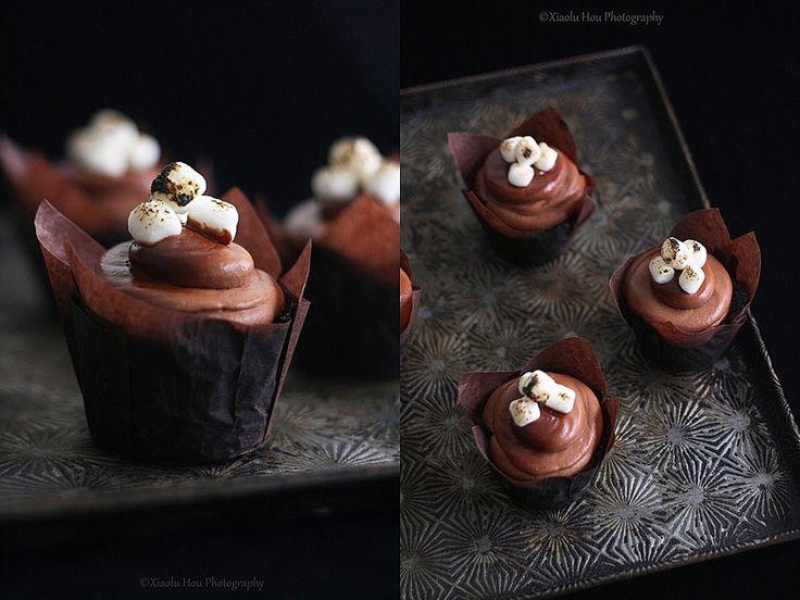 Sherlockian Cupcakes Part 2: Chocolate Toasted Marshmallow Cupcakes