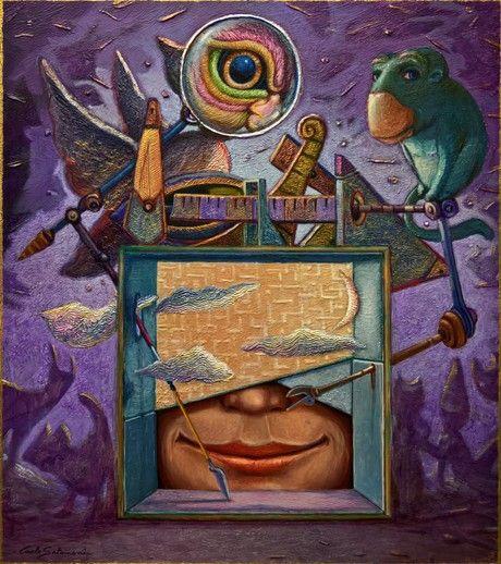 Check out THE MIND'S SCREEN by Carlo Salomoni | Original Art | https://www.vangoart.co/carlo-salomoni1/the-mind-s-screen @VangoArt