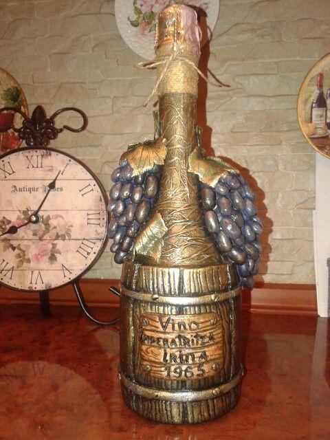 Декор бутылки шампанского. L.Atr.. 2015.