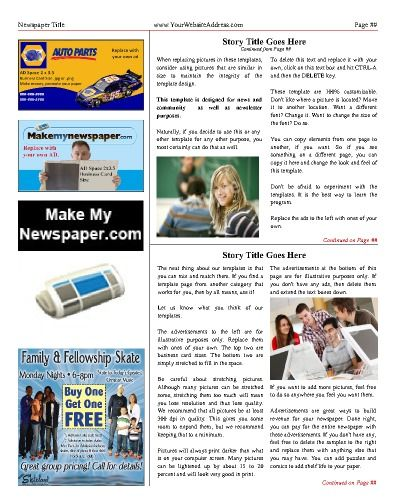 27 best Newspaper Templates images on Pinterest Free cloud - online newspaper template