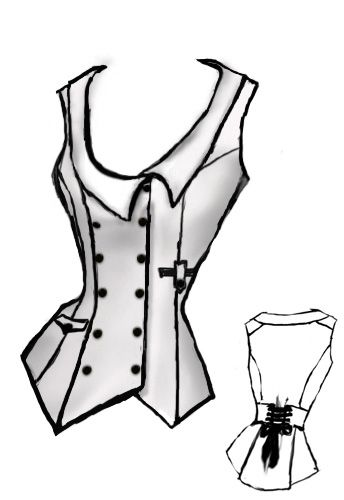 Steampunk Vest by Amber Middaugh