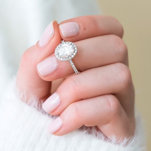Meet The Waverly A Sparkling Halo Of Scalloped Pave Diamonds Encircle The Center G In 2020 Beautiful Engagement Rings Halo Halo Diamond Ring Engagement Ring On Hand