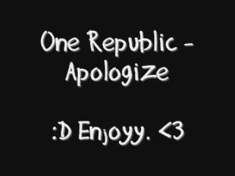 Apologize - One republic (lyrics on screen)
