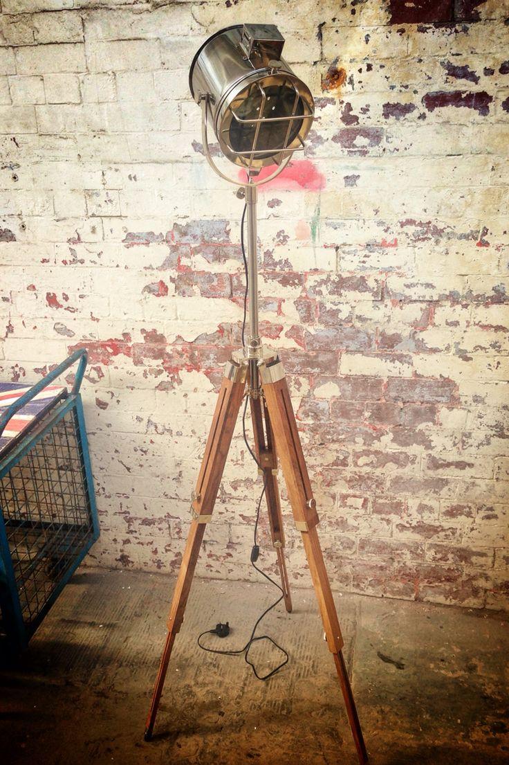 Theatrical/nautical spotlight/floor lamp 5.5ft full extension @ http://www.plattersinteriors.co.uk/shop/4589794855/nautical-theatre-spotlight-floor-lamp/10060419