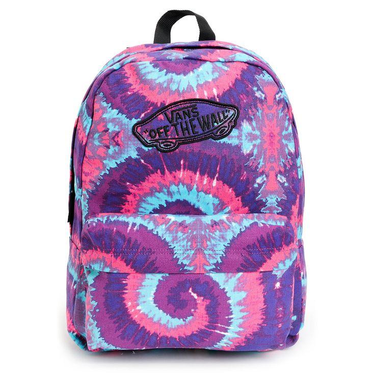 Vans Realm Pink & Purple Tie Dye Backpack