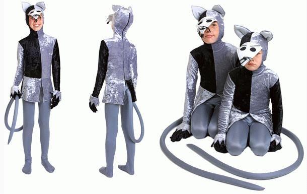 Новогодний костюм крысы простой